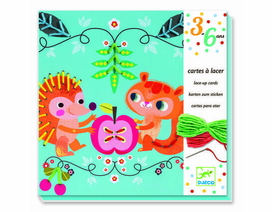 Djeco Lace-up / Stitching Cards - Friends