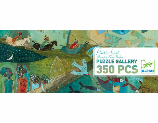 Djeco Poetic Boat Gallery 350 Piece Jigsaw Puzzle