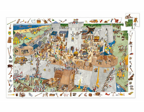 Djeco 100 Piece Observation Puzzle - Fortified Castle