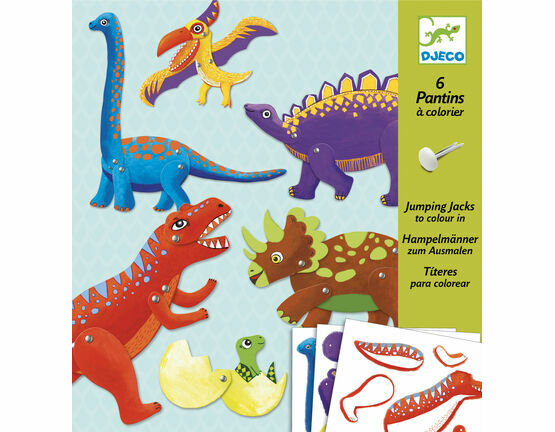 Djeco Jumping Jack Puppets - Dinosaurs