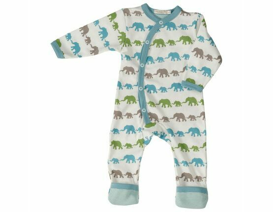 Pigeon Organics Elephant Silhouette All-in-One - Multi Blue