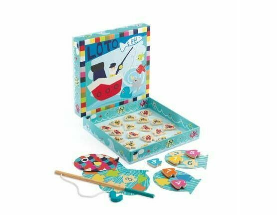 Djeco Lotto Magnetic Fishing Game - Navy Loto