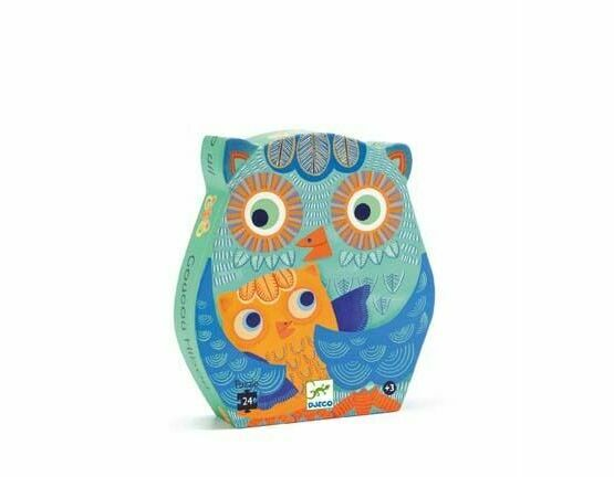Djeco Silhouette Jigsaw Puzzle - Hello Owl
