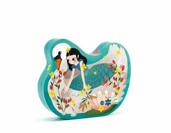 Djeco Silhouette Jigsaw Puzzle - Lady with the Swan