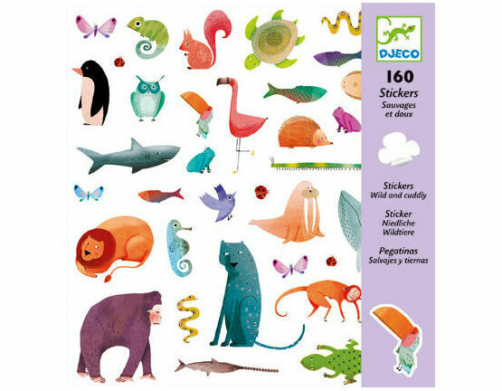 Djeco Stickers - Wild & Cuddly