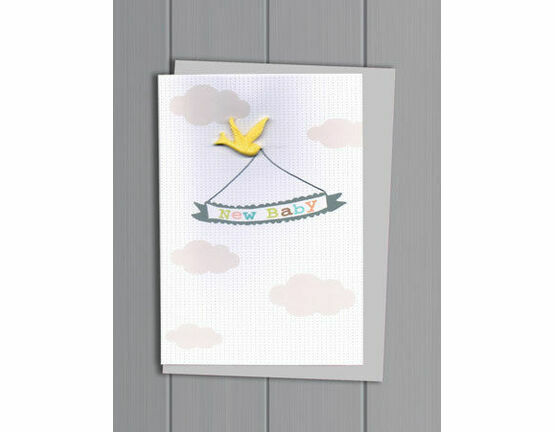 Petra Boase New Baby Resin Bird Card