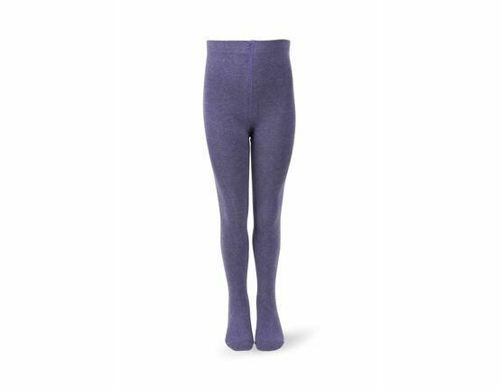 Melton Plain Tights - Melange Purple