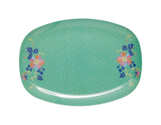 Rice Melamine Rectangle Plate - Dotty Print