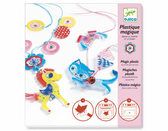 Djeco Magic Plastic Jewellery Kit - The Kitten & Pony