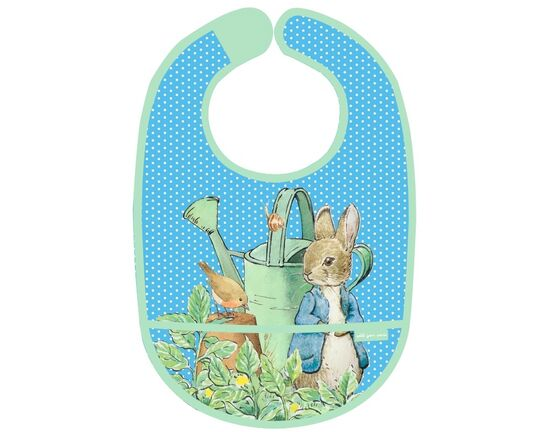 Petit Jour Paris Peter Rabbit PVC Bib - Blue