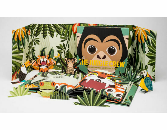 Mibo The Jungle Crew Book with 3D Papercut Animals