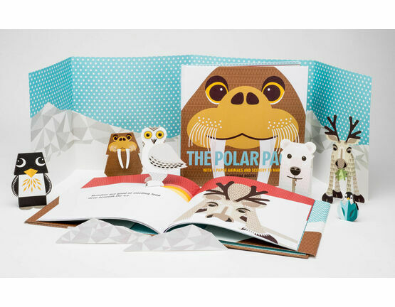 Mibo The Polar Pack Book with 3D Papercut Animals