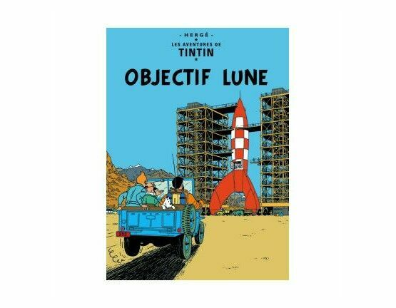 Tintin Poster - Objectif Lune