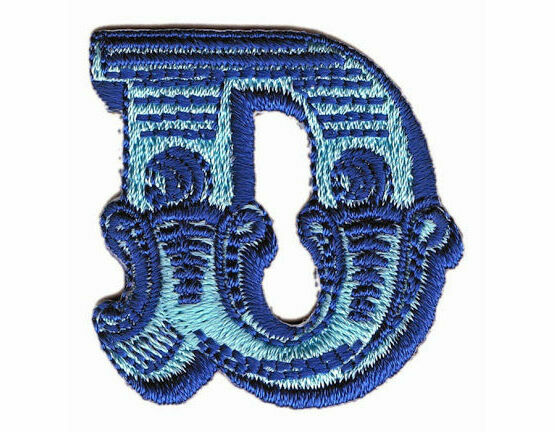 Jennie Maizels Alphabet Patch - Letter D - Blue