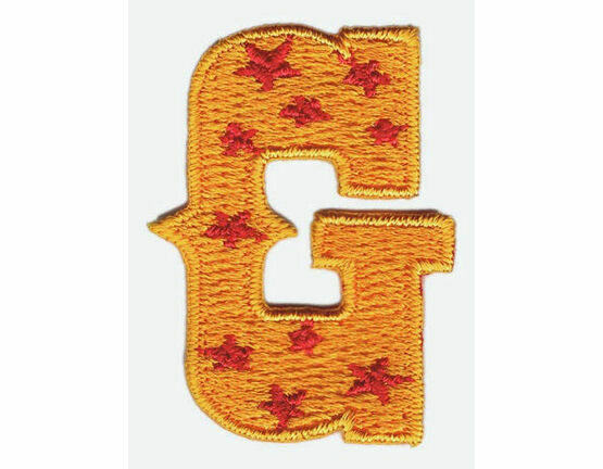 Jennie Maizels Alphabet Patch - Letter G - Orange/Red