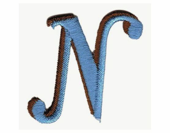 Jennie Maizels Alphabet Patch - Letter N - Blue