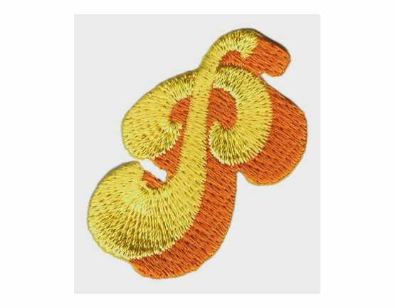 Jennie Maizels Alphabet Patch - Letter P - Yellow