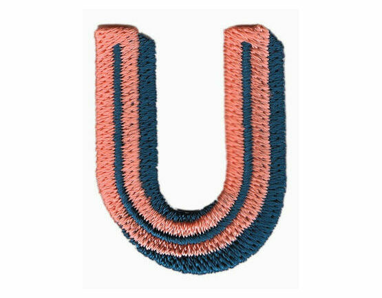 Jennie Maizels Alphabet Patch - Letter U - Pink