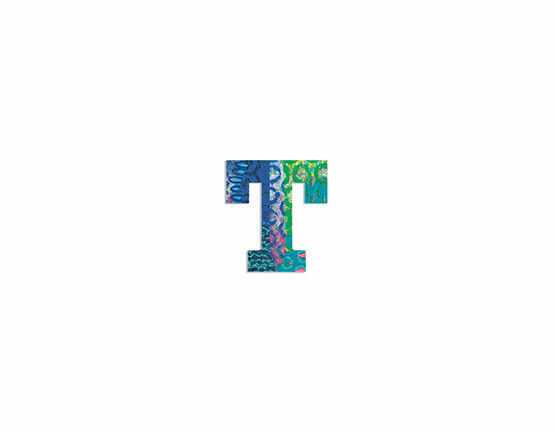 Djeco Wooden Letter T - Peacock