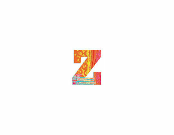 Djeco Wooden Letter Z - Peacock