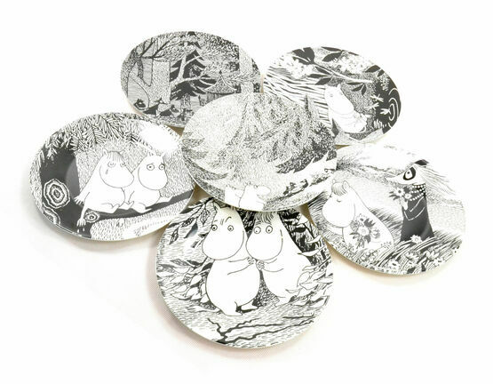 Petit Jour Paris Moomin Side Plates - Set of 6