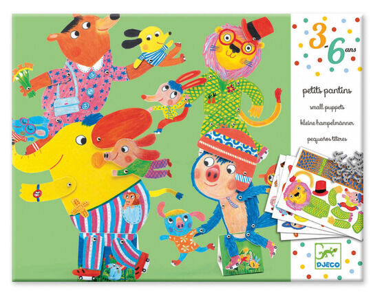 Djeco Paper Puppets - On Roller Skates!