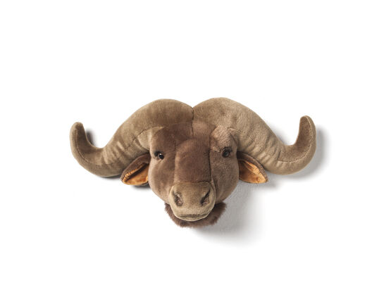 Wild & Soft Animal Trophy Head - Oscar the water Buffalo
