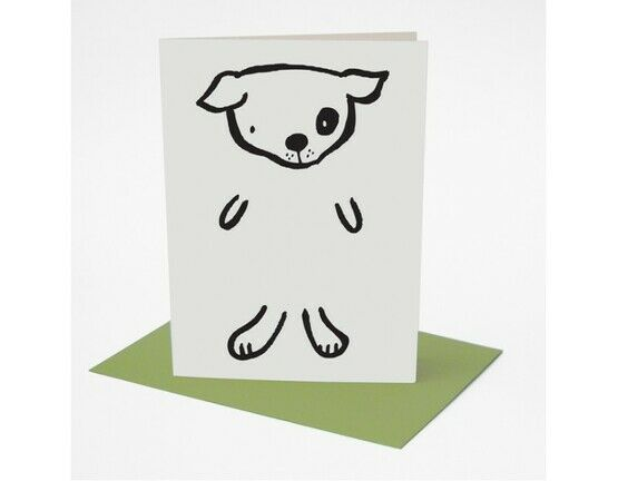 Wee Gallery Colour in Dress-up Greeting Card - Dog