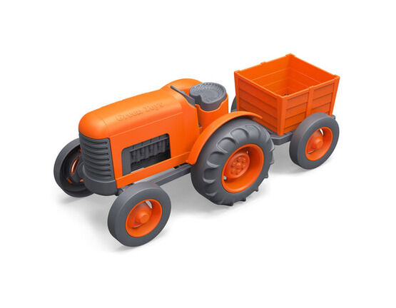 Green Toys Recycled Tractor - Orange