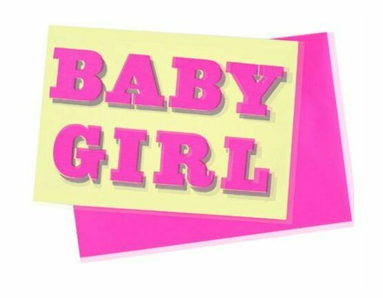 Dandy Star Baby Girl Card