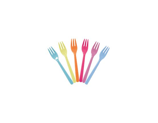Rice Melamine Set of 6 Forks - go for the fun