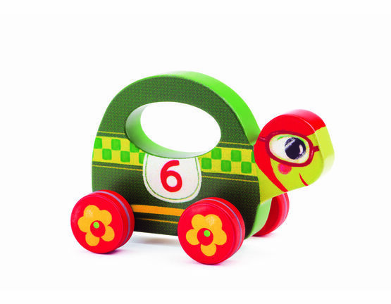Djeco Wooden Push Along Toy - Speedy