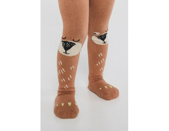 Braveling Bear Hug Tights with ABS & Terry Feet