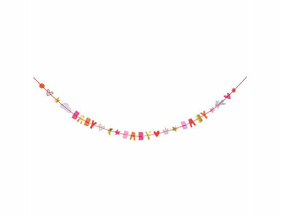 Meri Meri Baby Girl Garland Greeting Card