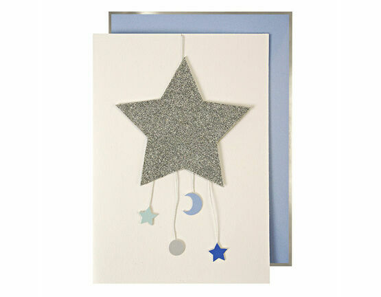 Meri Meri Baby Boy Mobile Greeting Card