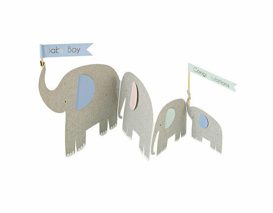 Meri Meri Concertina Elephants Greeting Card