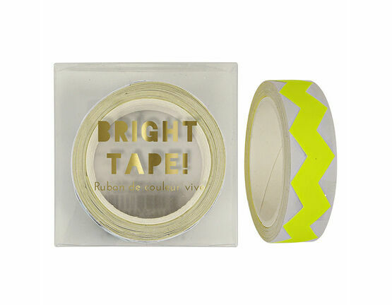 Meri Meri Yellow Neon Chevron Tape