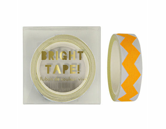 Meri Meri Orange Neon Chevron Tape