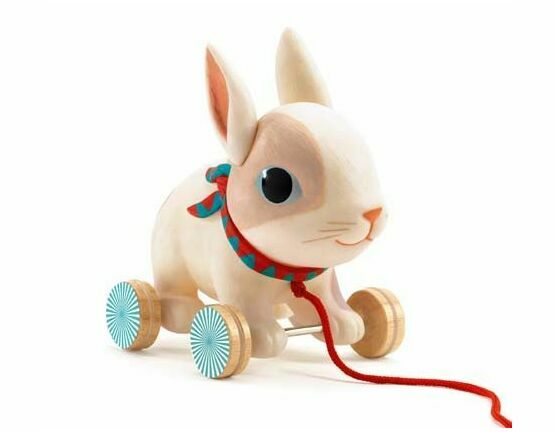 Djeco Pull Along Toy - Colin the Rabbit