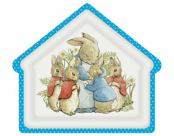 Petit Jour House Shape Large Plate - Peter Rabbit
