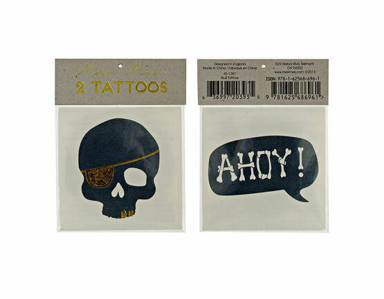 Meri Meri Pirate Skull & Ahoy Tattoos