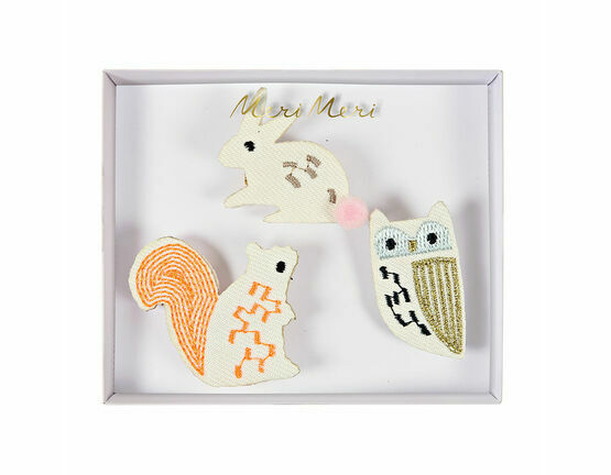 Meri Meri Woodland Creatures Embroidered Brooches