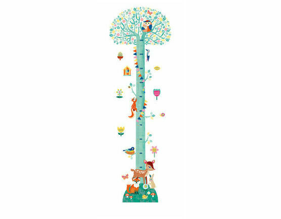 djeco removable wall stickers height chart - springtime only £14.91