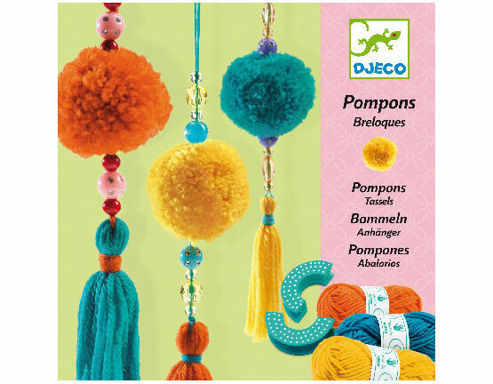 Djeco Pompon Making Kit - 3 Hanging Tassels