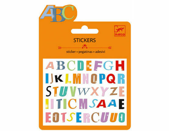 Djeco Mini Stickers - Coloured Letters