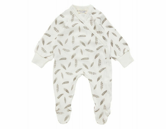 Renuka Premature Baby Footed Wrap Growsuit - Feathers
