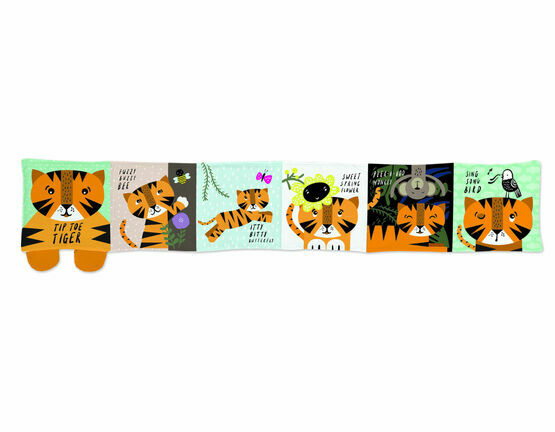Wee Gallery Soft Cloth Baby Book - Tiger