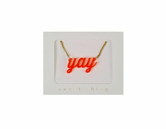 Meri Meri Necklace - Orange Yay