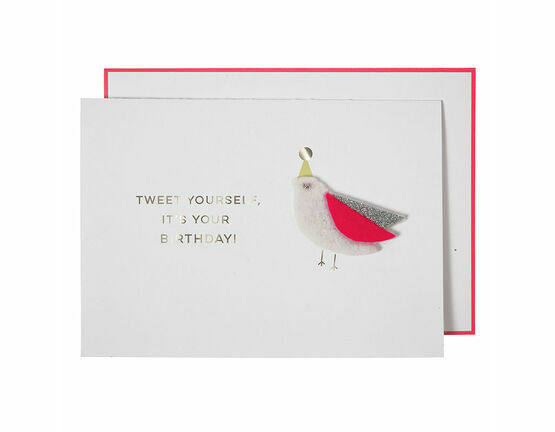 Tweet Yourself Greeting Card