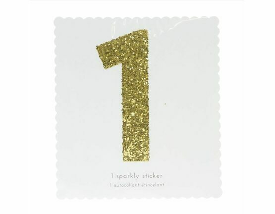 Meri Meri Number Chunky Gold Glitter Sticker - 1